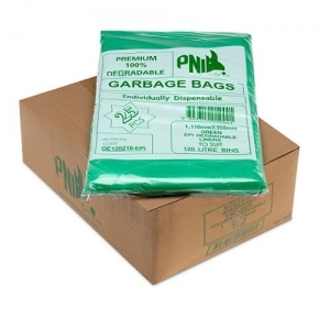 120L Garbage Bags EPI  Green 200/Ctn - Click for more info