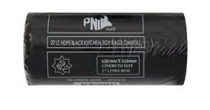 27L Kitchen Tidy Liner BLACK 1000p/Ctn