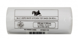 36L Kitchen Tidy Liner White 1000/Ctn - Click for more info
