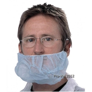 PROVAL Beard Covers Blue Double Loop - Click for more info