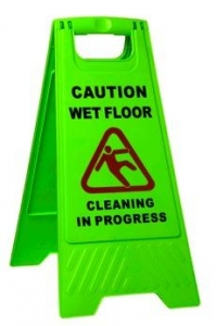 Wet Floor Sign Heavy Duty Green A Frame - Click for more info