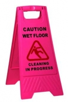 Wet Floor Sign Heavy Duty Pink A Frame - Click for more info