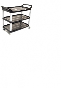Sabco Black Utility or Linen Cart 2495B - Click for more info