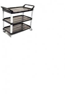 Sabco Black Utility or Linen Cart 2495B