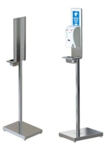 Hand Sanitiser Stainless Steel Stand - Click for more info