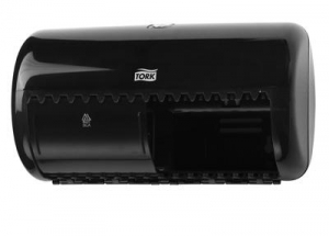 Tork Dual Toilet Paper Dispenser Black - Click for more info