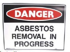 POLY ASBESTOS Sign60x45cm - Click for more info