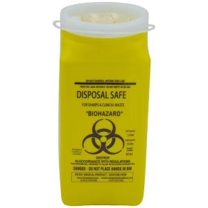 Sharps Container 1400ml Plastic Yellow - Click for more info