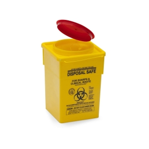 Sharps Container 2000ml Plastic Yellow - Click for more info