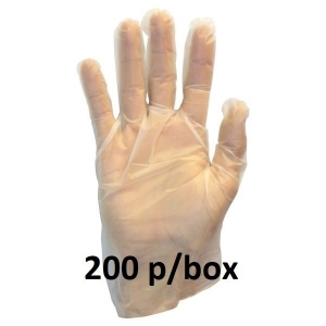 GLOVE Hybrid Clear Powder Free X-Large - Click for more info