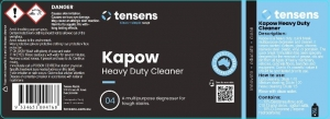 Clean+simple Kapow HD Degreaser Label