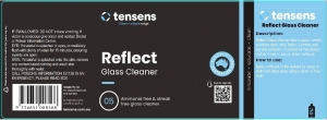 Clean+simple Reflect Glass Cleaner Label