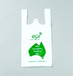 EPI Degradable Medium White Singlet bag - Click for more info