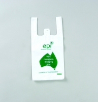 EPI Degradable Small White Singlet bag - Click for more info